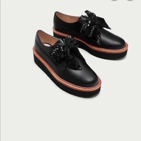 Zara Platform Derby Shoes.